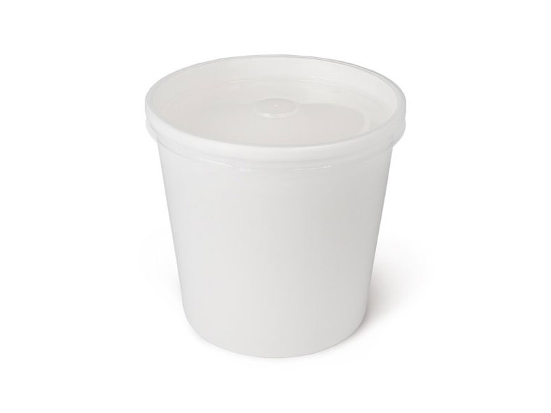 Бумажная упаковка для супов с пластиковой крышкой
