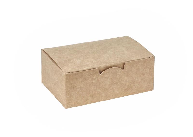 Бумажный ланч-бокс закрывающийся