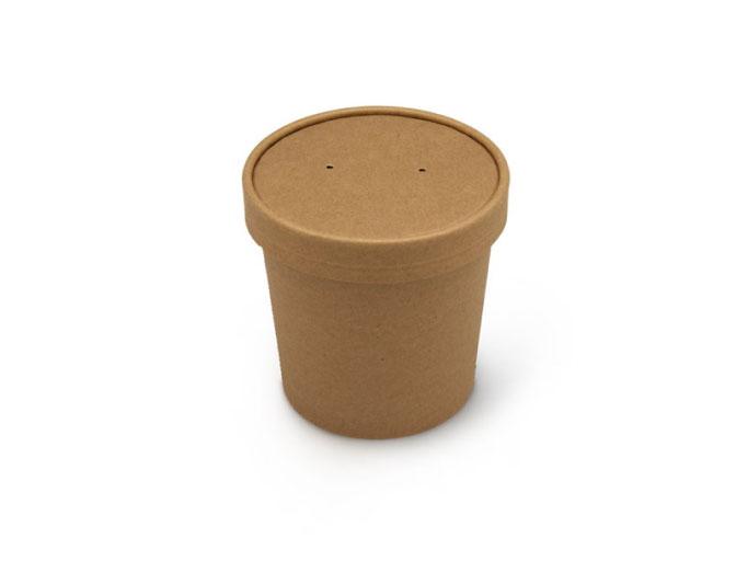 Бумажная упаковка для супа Крафт